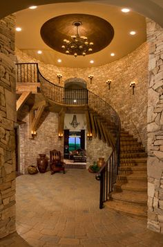San Antonio Parade of Homes Designs - Mediterranean - Staircase - Other Metro - Calamity Jane's Trading Co.