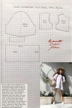 Fashion Dolls Couture - Unlimited: White Cottagecore Style Dress -MTM-Original-