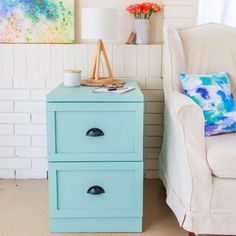 Drab To Fab Filing Cabinet Makeover