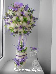 Цветочные топиарии) Crepe Paper Flowers, Diy Flowers, Fresh Flowers, Flower Decorations, Window Box Flowers, Ikebana, Amazing Flowers, Table Centerpieces, Flower Crown