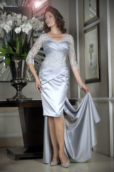 Occasion collection by Ian Stuart for the discerning mother of the groom / mother of the bride. Stand out from the crowd with a beautiful Ian Stuart dress. Short Wedding Guest Dresses, Groom Wedding Dress, Groom Dress, Bride Groom, Mother Of Bride Outfits, Mother Of The Bride, Silver Grey Dress, Ian Stuart, Bridal Gowns