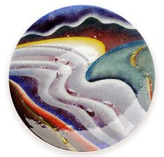 Glass art for sale in our St Davids gallery – gallery pieces