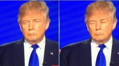 When some genius replaced Donald Trump's mouth for his eyes and he looked exactly the same: