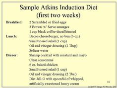 phase 1 atkins food list | atkins diet induction