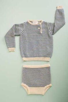 cashmere stripe brief natural/bright blue stripe by flora and henri www.florahenri.com