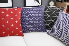 Pillow cover/Throw pillow/Decorative Throw cushion/Cushion cover/Pillowcase/pillow case/scatter cushion/geometry combination wave V-shaped