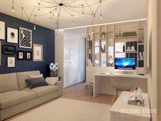 Salas de estar escandinavas por Мастерская дизайна Welcome Studio