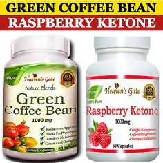 COMBO GREEN COFFEE BEAN + RASPBERRY KETONE FASTER WEIGHT LOSS 100% PURE ORGANIC Raspberry Ketones, Weight Loss Supplements, Fast Weight Loss, 100 Pure, Coffee Beans, Cleanse, The 100, Organic, Pure Products
