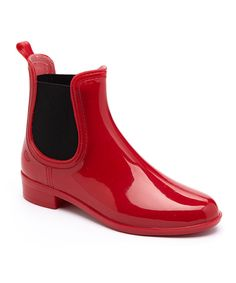 Dark Red Rain Boot