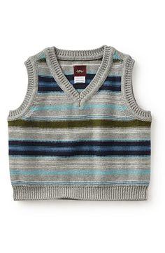 Tea Collection 'Massimiliano' Stripe Sweater Vest (Baby Boys)