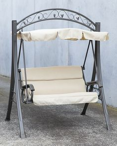 swing chair metal industrial kitchen chairs 62 best bed images gardens sets outdoor canopy hanging garden bench seat steel frame cushion