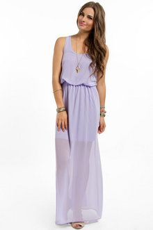 Tobi Gone With The Breeze Maxi Dress in Lilac