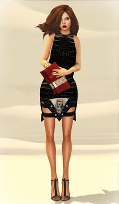"""Second Life Fashion, lighting example """"Middle Finger"""""""