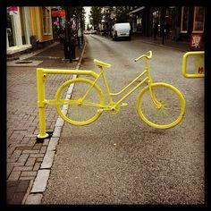 No Driving!!! Bicycle, Yellow, Bicycle Kick, Bike, Trial Bike, Bicycles, Gold