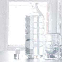 bedside glass water bottle for guest room