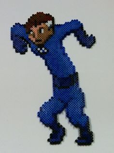 Perler Bead: Mr. Fantastic by ~thewiredslain on deviantART