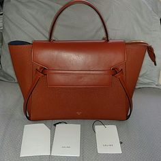 Celine Brick Small Belt Bag Comes with original dust bag. Bought from Celine in NYC for around $3000 and used only twice on that trip. Looks pretty much brand new. Celine calls this a small, but as you probably know, that means a medium-large sized bag  NO TRADES Celine Bags Satchels