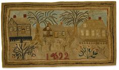 "It's been a while since we've looked at rugs from years past, so today let's look at a few antique rugs I have come across - a good way to finish out the ""old year"" of 2017. Above is a very charmin..."