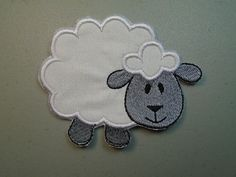 Sheep Iron on or sew on applique or patch by DeeAppliques on Etsy