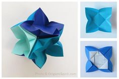 How to Make an IvaMia Kusudama. #modularorigami #geometricorigami