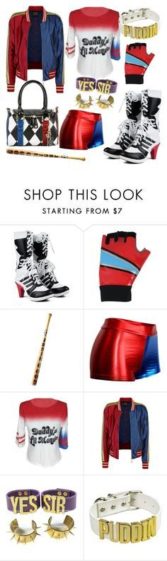 """Harley Quinn(HARLEEN QUINZEL)Costume"" by nickollalopez ❤ liked on Polyvore featuring COS"