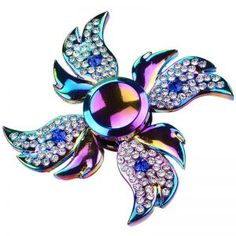 Cheap edc, Buy Directly from China Suppliers:Colorful Rhinestone Fidget Spinner Metal Angel Wing Diamond Beyblade Fingertip Gyro Hand Spinner Gift Toys For Women Rainbow Fidget Spinner, Cool Fidget Spinners, Cool Fidget Toys, Fidget Spinner Toy, Edc, Finger, Metal Wings, Fidget Cube, Stress Relief Toys