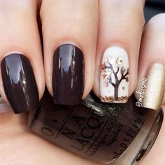 Trendy Fall Color Nails for Your Perfect Mani ★ See more: https://naildesignsjournal.com/trendy-fall-color-nails-designs/ #nails