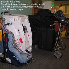 Make a DIY version to lug the car seat around the airport? | Crafty ...
