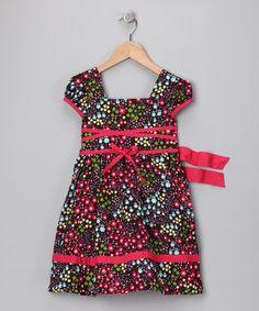 Red Floral Square-Neck Dress - Infant, Toddler  Girls ~$11.99 by 'Izzy Bella'