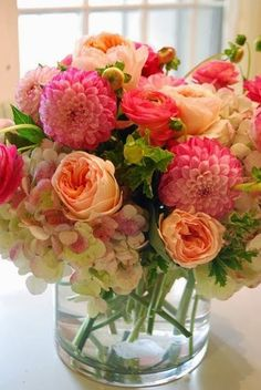 Roses, Hydrangea, And Dahlia....Gorgeous