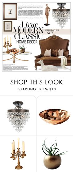 """Modern Classic"" by einn-enna on Polyvore featuring interior, interiors, interior design, home, home decor, interior decorating, Ballard Designs, Christopher Guy, Tom Dixon and Dot & Bo"