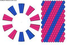 2 color kumihimo pattern 2x20