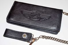 Harley Davidson 100th Anniversary Items | Genuine Harley Davidson 100th Anniversary Leather Wallet with Chain ...
