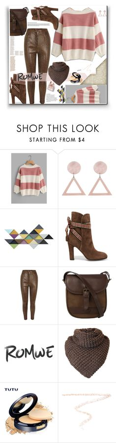 """""""Romwe wide striped sweater"""" by eldinreham ❤ liked on Polyvore featuring Etro, Balmain, DUBARRY, Charlotte Tilbury and Burberry"""