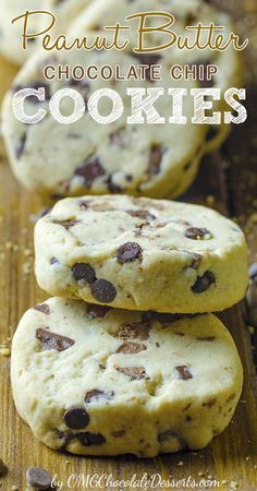 Can't decide between shortbread or chocolate chip cookies? You don't have to with this amazing cookie recipe :-)