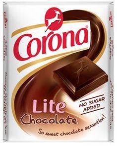 Corona Lite Chocolate, Alexandria confectionery & chocolate company, Alexandria, Egypt. شركة الإسكندرية لصناعة الحلويات و الشوكولا