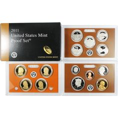 2011-S 14-Coin Proof Set including 5 America the Beautiful Quarters and 4 Presidential Dollars