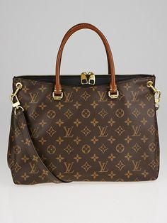 b807b50c7e89 Louis Vuitton Black Monogram Canvas Pallas Bag