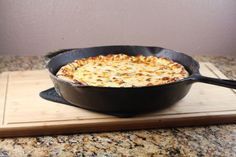 Cast Iron Pizza ... RECIPE ... this recipe reads absolutely delicious!  I will be trying for sure.