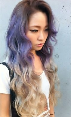 Not the purple, but pretty ombre'