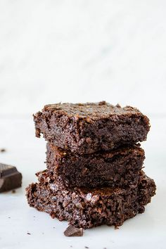 Rich Dark Chocolate Brownies (Gluten Free, Vegan, Refined Sugar Free) | cooking ala mel by cookingalamel, via Flickr