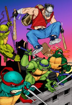 Ninja Turtles by Archaeopteryx14.deviantart.com on @deviantART