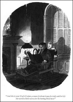 """""""And this is your Uncle Cosimo, a man whom it may be truly said he left the world a little worse for his having lived in it. Addams Family by Charles Addams"""