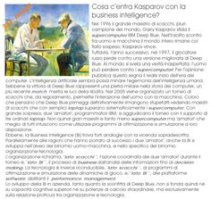 Kasparov e la Business Intelligence