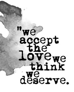 We accept the love....