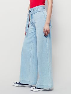 Free People Augusta Belted Flare, £108.00, style: 37844453, pale blue wash