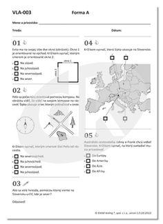 Test VLA-003 Orientácia, Objavujeme Slovensko | datakabinet.sk