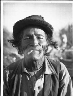 Portrait of an old Chemehuevi Indian man smoking, ca.1900. http://digitallibrary.usc.edu/cdm/ref/collection/p15799coll65/id/16013