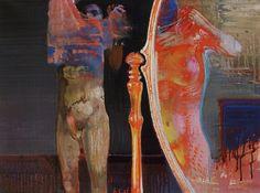 Leonardo Cremonini Desiring the other / Le désir de l'autre (1965) Oil on paper (49 x 68 cm)
