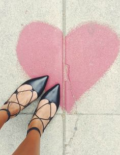 <3 these lace-up flats and they're under $100!